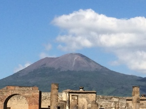 Mount Vesuvius Overlooking the Ruins of Pompeii 2014